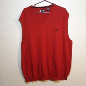 Chaps 2x red sleeveless sweater vest